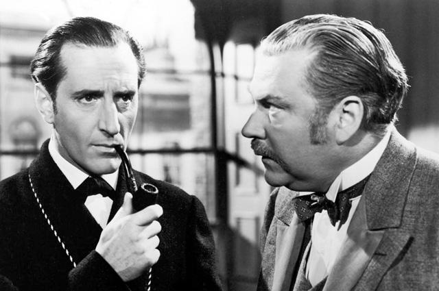 Sherlock Holmes smoking