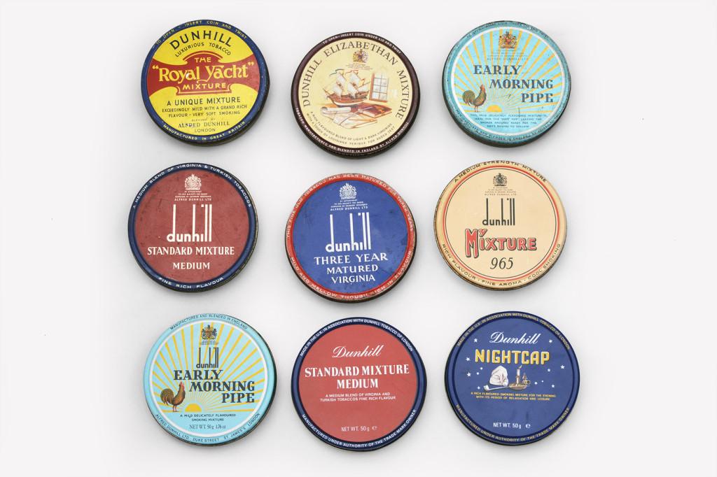 Tabákové plechovky Dunhill od 70. let asi do roku 2002